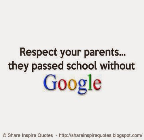 Respect your parents.