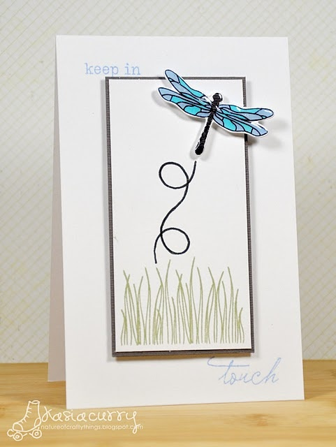 beautiful dragonfly card