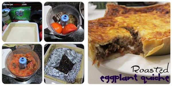 Roasted Eggplant Quiche | The Recipe Auditors | Follow @The Recipe Auditors