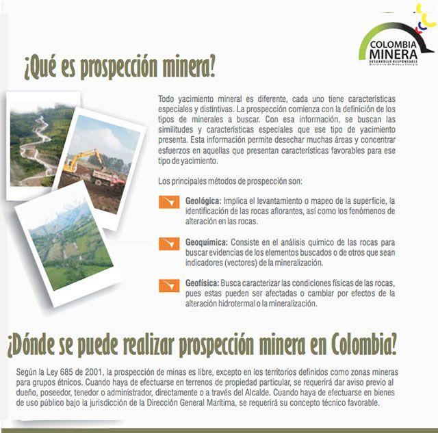 ¿Dónde se puede realizar prospección minera en Colombia?