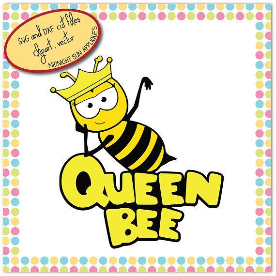 Bee svgqueen bee svgbee cut filesvg beechildren svgkids