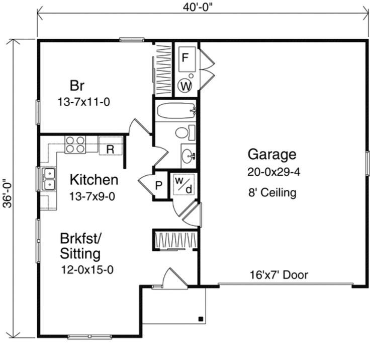 Houseplans.com Main Floor Plan Plan #22-416