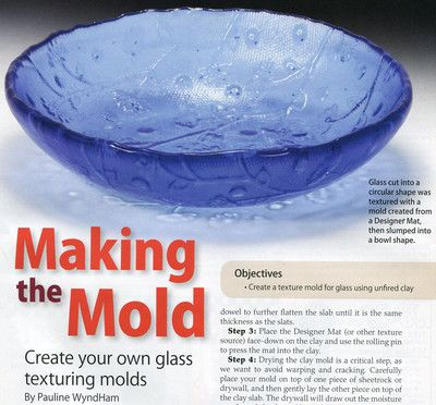 glass texture mold_making - unfortunately the link goes to the site and I'm having trouble finding this article.