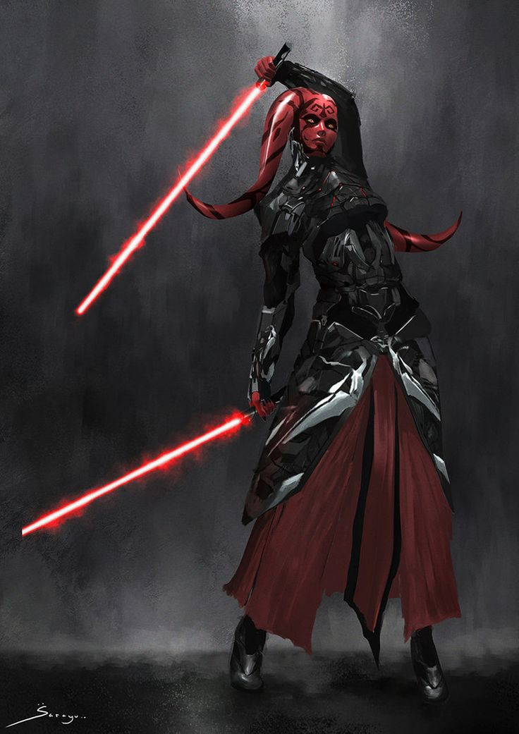 Twi'lek Sith Knight Female - Concept Design by Ron-faure