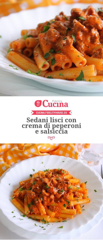Sedani lisci con crema di peperoni e salsiccia della nostra utente Giovanna. Unisciti alla nostra Community ed invia le tue ricette!