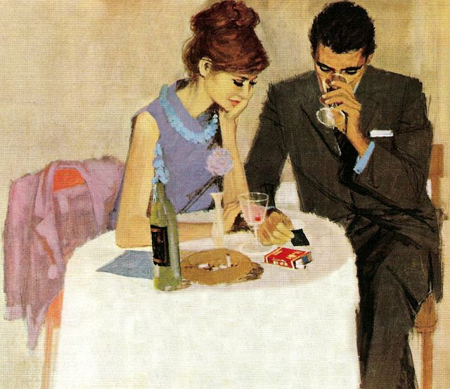 andy virgil #art #andyvirgil: Dinner, Inspiration, Vintage, Illustrations, Date Nights, Things, Painting