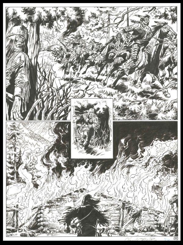 Buddy Longway: 12. Captain Ryan van Derib - Comic Strip Inkt uit China - W.B.