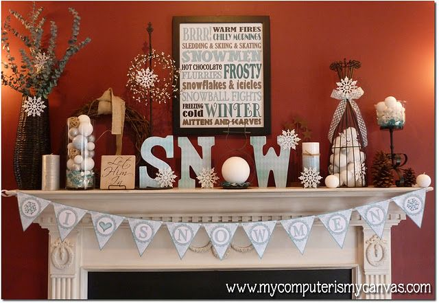 How cute! some of us have withdrawals when we have to take down our Christmas decorations..you can still decorate for winter!