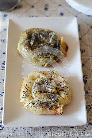 Pastry rolls with pesto