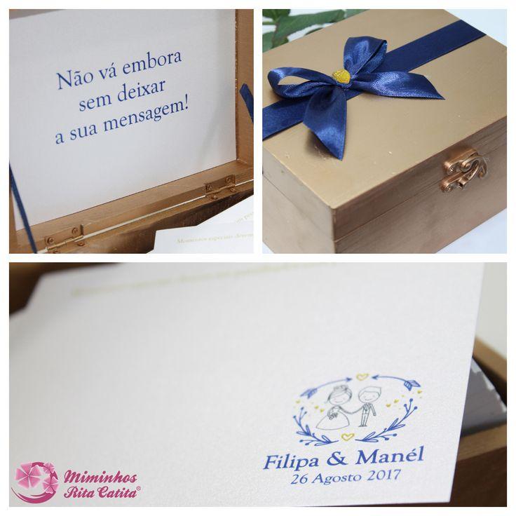 Caixa de Honra com cartões para Mensagens aos Noivos