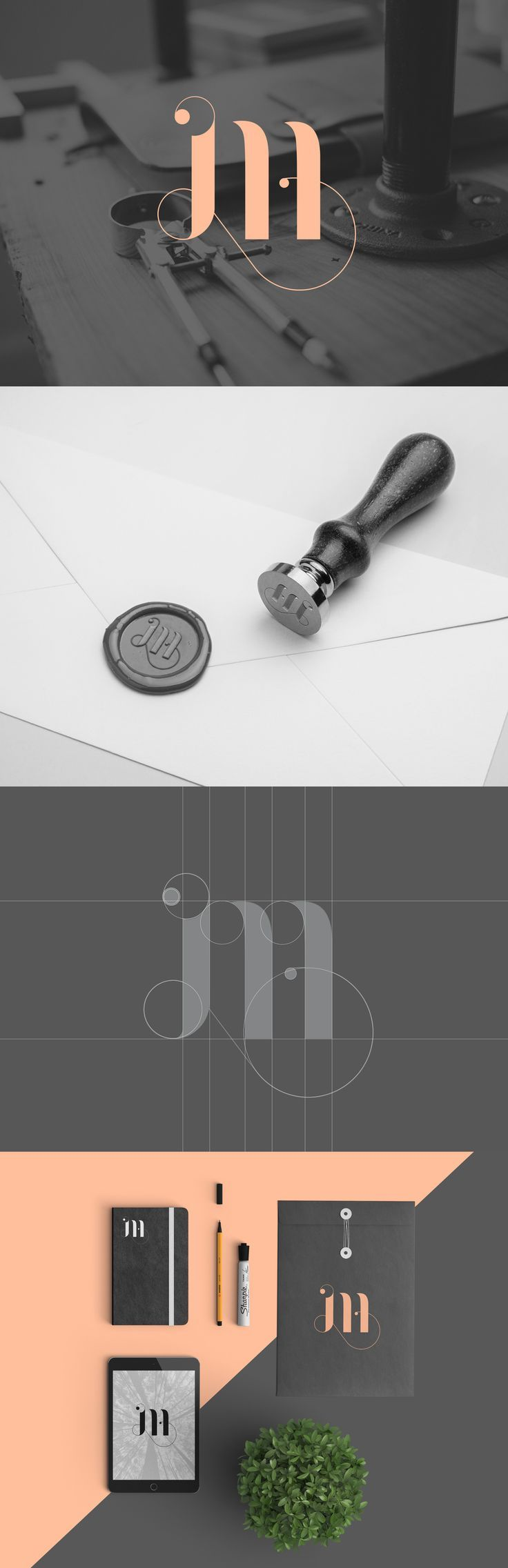 Beautiful personal brand identity calligraphy by Martina Cavalieri.  Get inspired. Try Suitcase Fusion free for 30 days: http://www.extensis.com/font-management/suitcase-fusion/. If you like UX, design, or design thinking, check out theuxblog.com