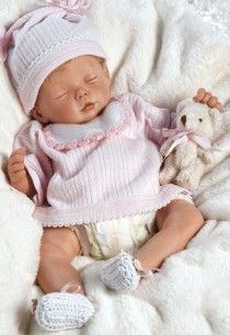 Weighted Real Looking Baby Doll, Baby Penelope Ensemble, 14 inch Vinyl