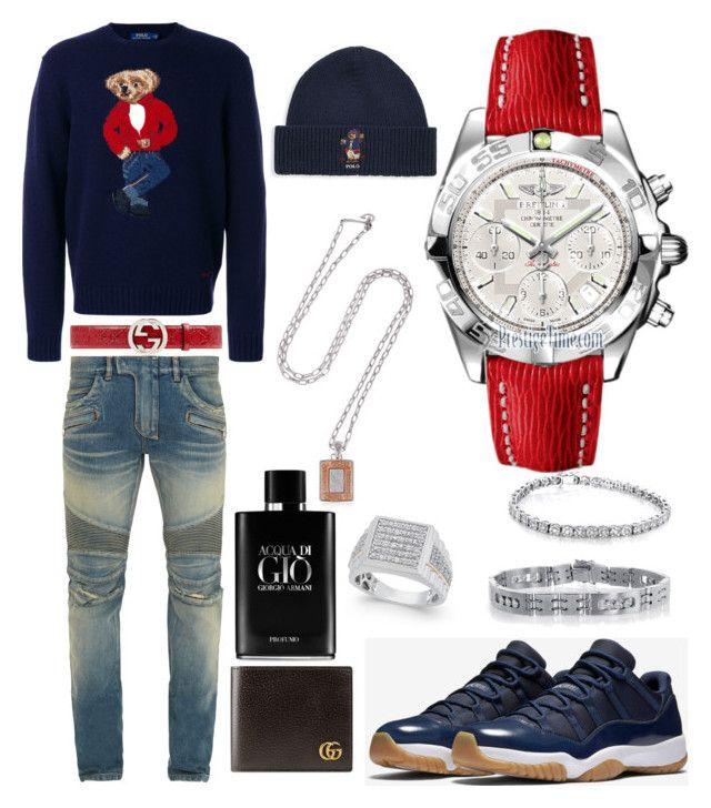 """""""Casual (Winter)"""" by pitbull8382 on Polyvore featuring Polo Ralph Lauren, Balmain, Gucci, Giorgio Armani, Breitling, Annello and Marco Ta Moko"""