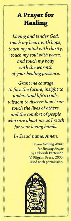 A Prayer for Healing Bookmark – Church Health Center Store