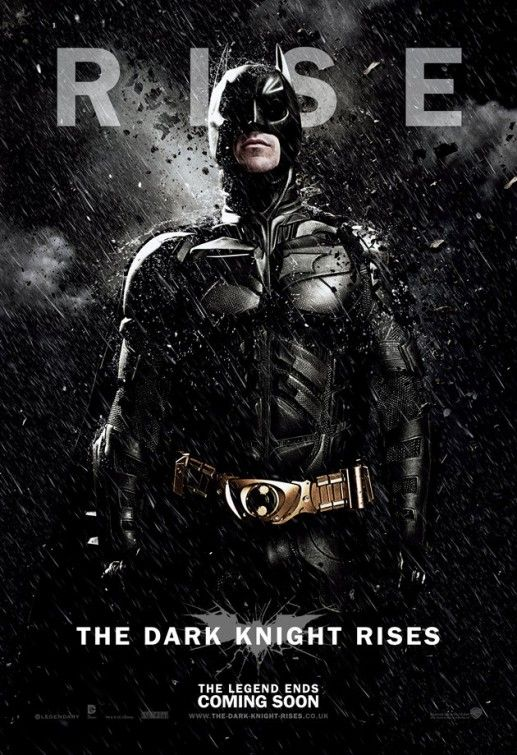 Batman character poster from The Dark Knight Rises