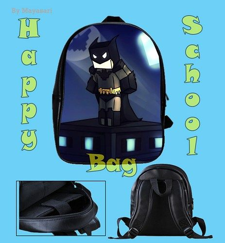 Custom School Bag - New MINECRAFT Batman Bag This high-quality school bag is the perfect accessory for school children. Made from high-grade PU leather. It is the perfect way for children to carry a