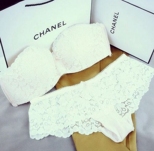 Expensive lingerie #fancy #girly #chanel (Wedding)