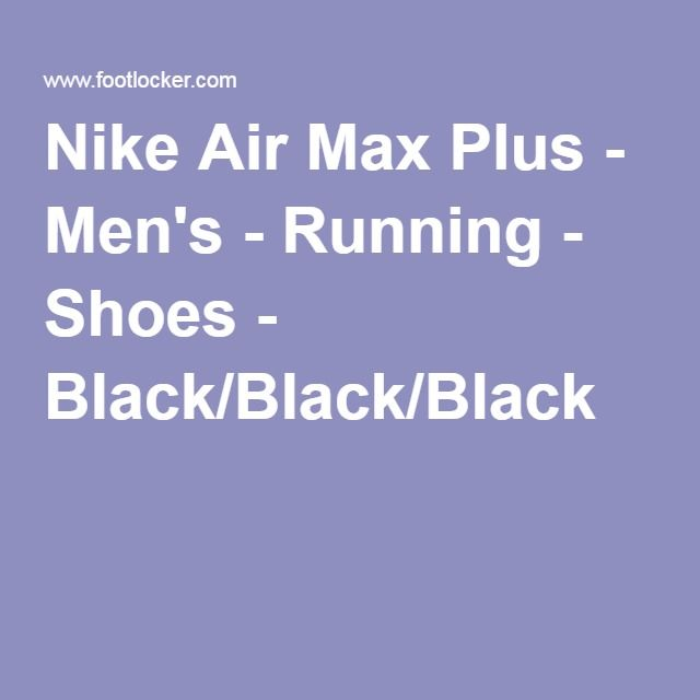 Nike Air Max Plus - Men's - Running - Shoes - Black/Black/Black