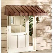 Buy East Iowa Plastics Door Canopy 63 In Brown At UnbeatableSale