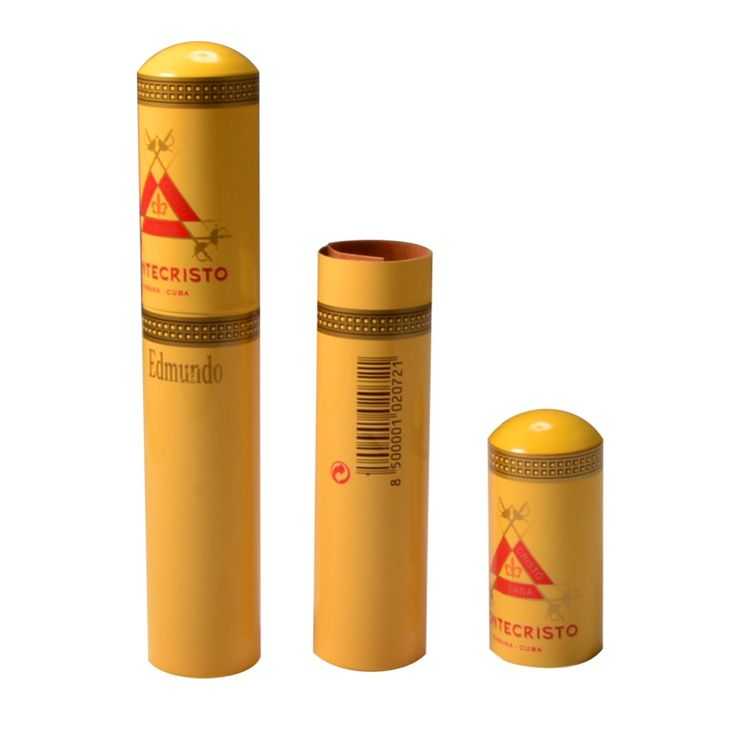 Travel Cigar Tube Cedar Wood Lined Packing Aluminum Holder MINI Humidor Case