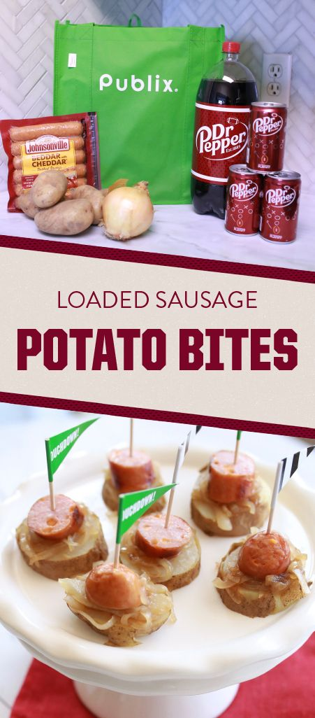 Your game day guests will want to call a timeout when they taste the bold and savory flavors of these Loaded Sausage Potato Bites. Since this appetizer recipe is made with Johnsonville Beddar with Cheddar Smoked Sausages and served with a Dr Pepper Slushie, we can't blame them! Tackle all your game day menus this season by picking up these ingredients, essentials, and more at your local Publix.