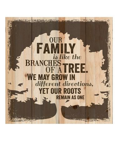 This 'Our Family' Tree Wall Sign is perfect! #zulilyfinds