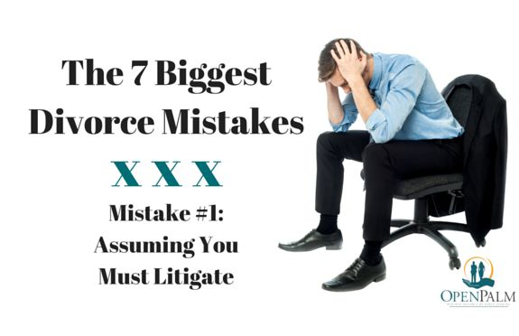 The biggest and most frequent is divorce mistake is assuming you must go to court. Learn your options. You can still have a collaborative divorce!