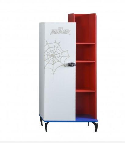 Unieke #boekenkast voor de #Spiderman #kinderkamer