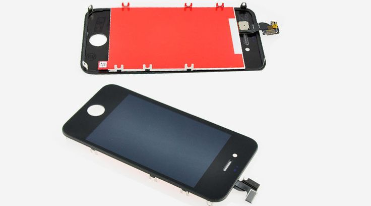 Original Apple iphone 4S Full LCD Display Kompletteinheit Glas Touch black neu