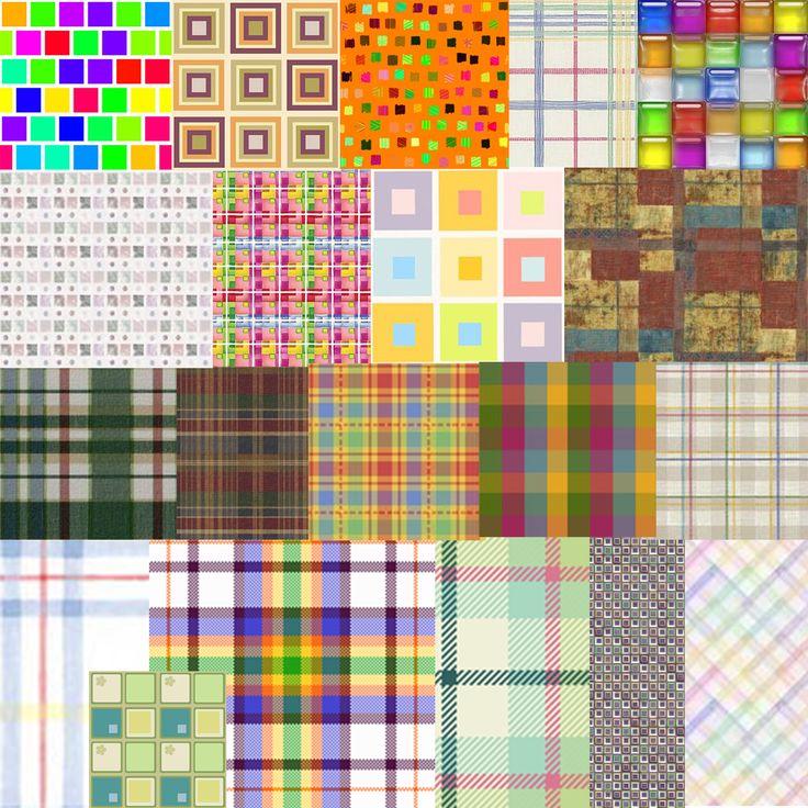 Клетчатые цветные узоры — Различные PSD, PNG файлы для фотошопа