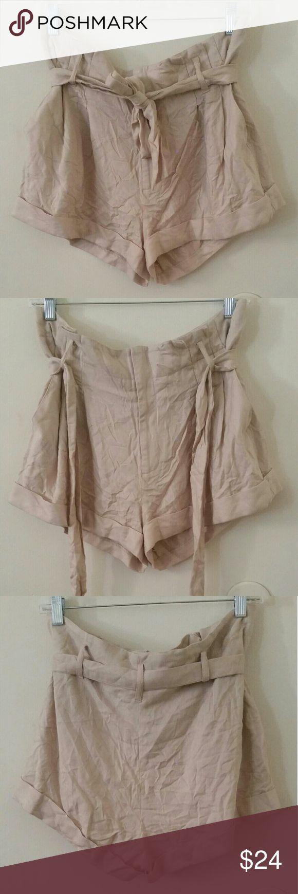 Cream shorts New shorts/ Never worn  Size 12 Cream shorts with belt. Sparkle & Fade Shorts
