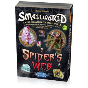 A Spider's Web is a new mini-expansion for Small World and contains 3 new Races: Ice Witches, Skags and Slingmen; as well as 3 new Special Power badges: Copycat, Lava and Soul-Touch. This expansion comes complete with a plastic storage tray designed to store all the badges and tokens from A Spiders Web, plus room for all the additional recent Small World expansions. A Spider`s Web expansion requires a copy of the original Small World board game to play.[MORE]