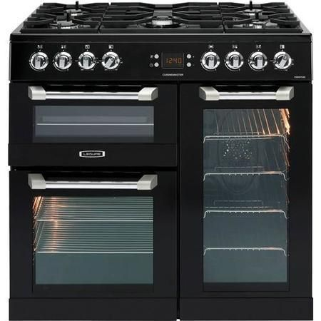 Leisure CS90F530K Cuisinemaster Black 90cm Dual Fuel Range Cooker