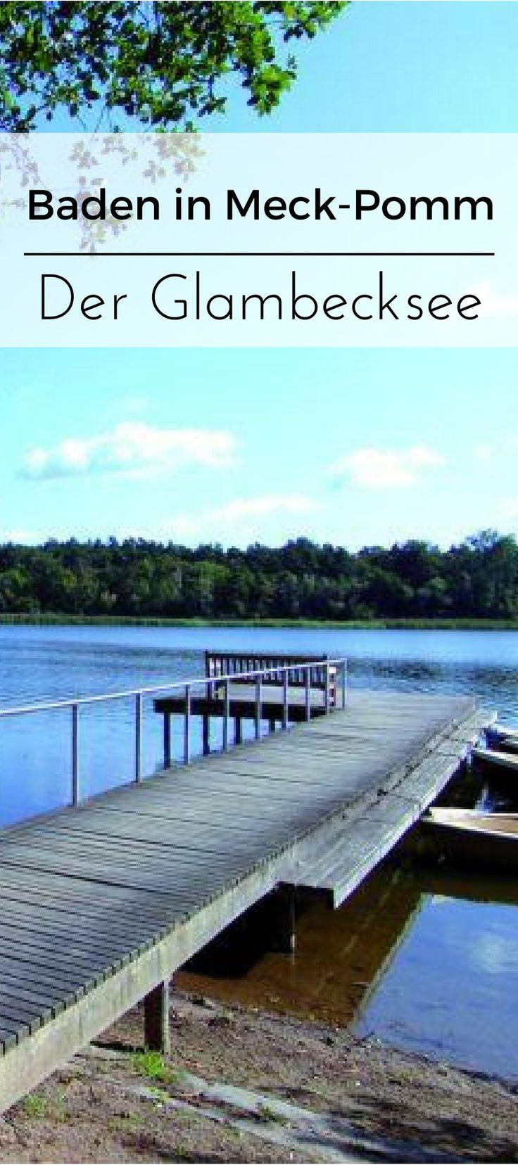 Der Glambecksee in Meck-Pomm als Ausflugsziel. Er ist ein perfekter Badesee in Deutschland für die ganze Familie.
