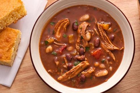 Jerk Turkey Chili  http://www.chow.com/recipes/30365-jerk-turkey-chili#