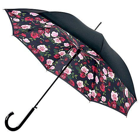 Buy Fulton Bloomsbury 2 Enchanted Bloom Walking Umbrella, Black/Multi Online at johnlewis.com