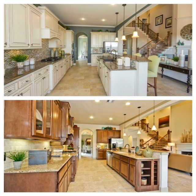 Same Living Space Just Re Designed In Different Colours. I Really Dont Know  Which One I Prefer. If Hubs Bought Me A House With Either Of These Kitchens  I ...