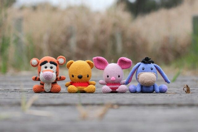 Winnie the Pooh and Friends. Crochet pattern for Pooh but not the others