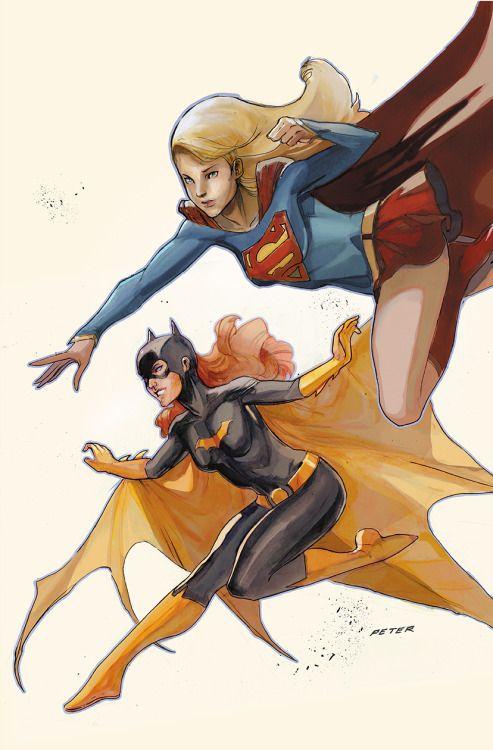 Classic Batgirl & Supergirl - Peter V Nguyen