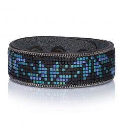 Bracelet Yuma cuir Spirit blue
