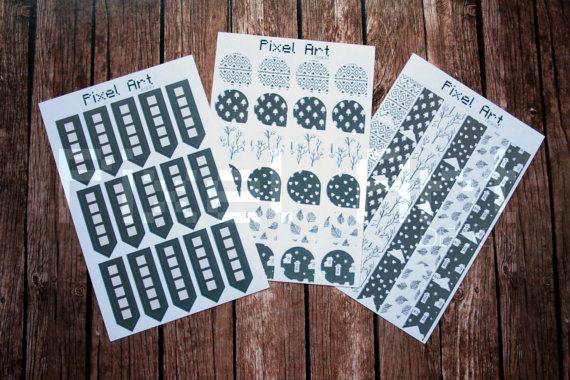 Cute diary stickers set adesivi pretagliati  di afPixelArtDesign