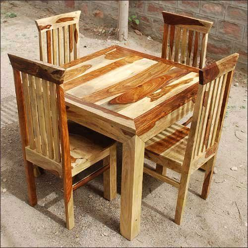 Handmade Solid Wood 5 Pc Kitchen Dinette Dining Room Table And Chair Set NEW By Sierra