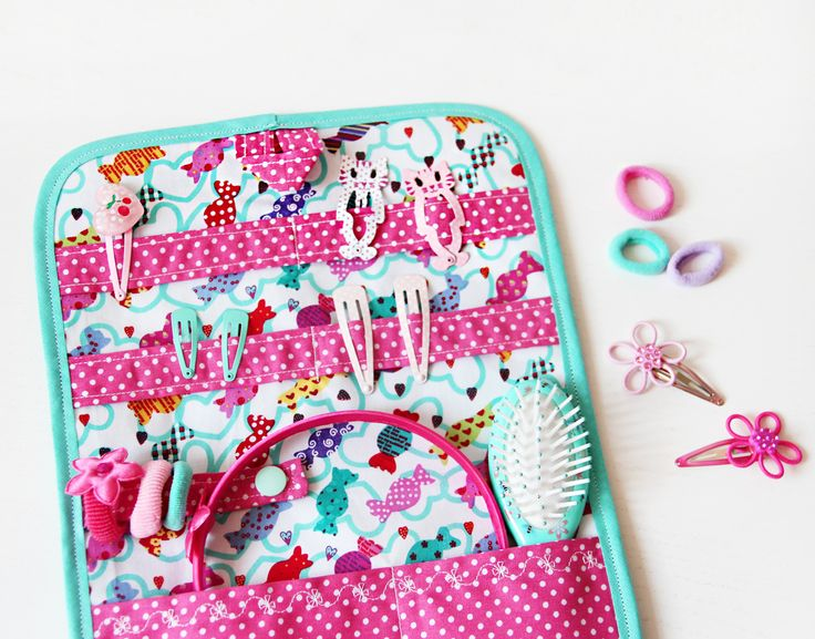 Fabulous Haarspangenhalter in T rkis mit s en Bonbons naehfein kinderzimmer haarspangen