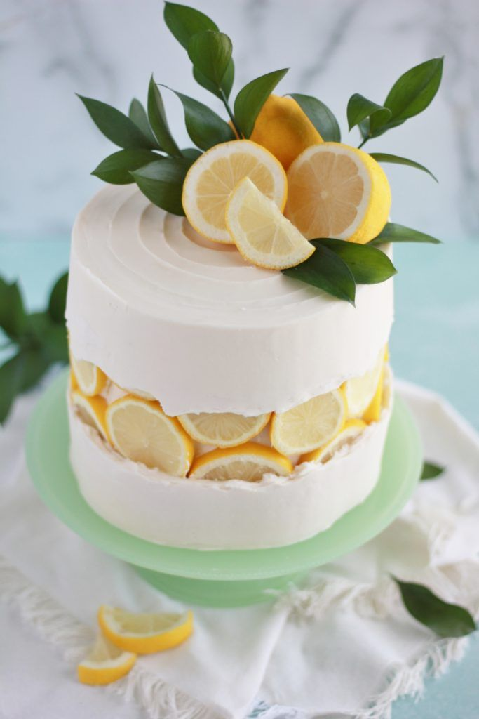 Lemon Slice Fault Line Cake Lemon Birthday Cakes No Bake Cake Cake