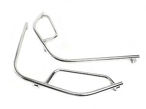 Vespa PX LML T5 Non Drill Front Chromed Crashbars Crash Bars | eBay | tr-speedshop | £99.99