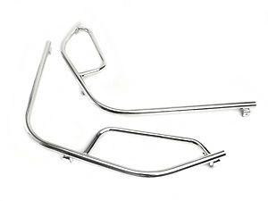 Vespa PX LML T5 Non Drill Front Chromed Crashbars Crash Bars | eBay | tr-speedshop | £99.99