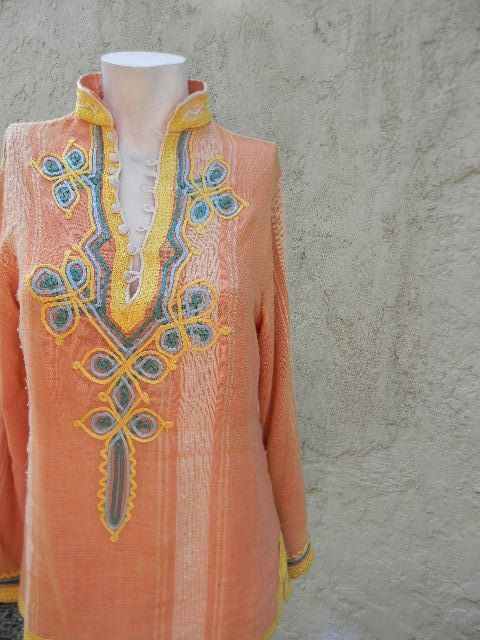 vintage. 70s Orange Moroccan Tunic / Rare Tunic // by styleforlife, $88.25