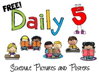 More FREEBIES!!! For all those classrooms doing Daily 5 out there, here is a set of posters and schedule cards to get you off to a great start. You get all this for the low, low price of FREE!Don't forget to leave me some feedback!You may also want to check out my pack of Word Work Activities:Word Work PackOr A Pack of Writing Prompts:Writing Prompt PackMy Fabulously Phonics Pack has many great activities for Daily 5 as well:Fabulously Phonics Bundle