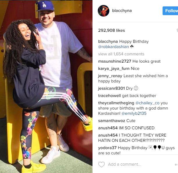 Blac Chyna's Birthday Message To Rob Kardashian
