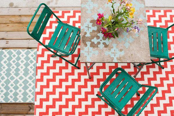 I tappeti in polipropilene, impermeabili e resistenti, perfetti anche all'esterno.